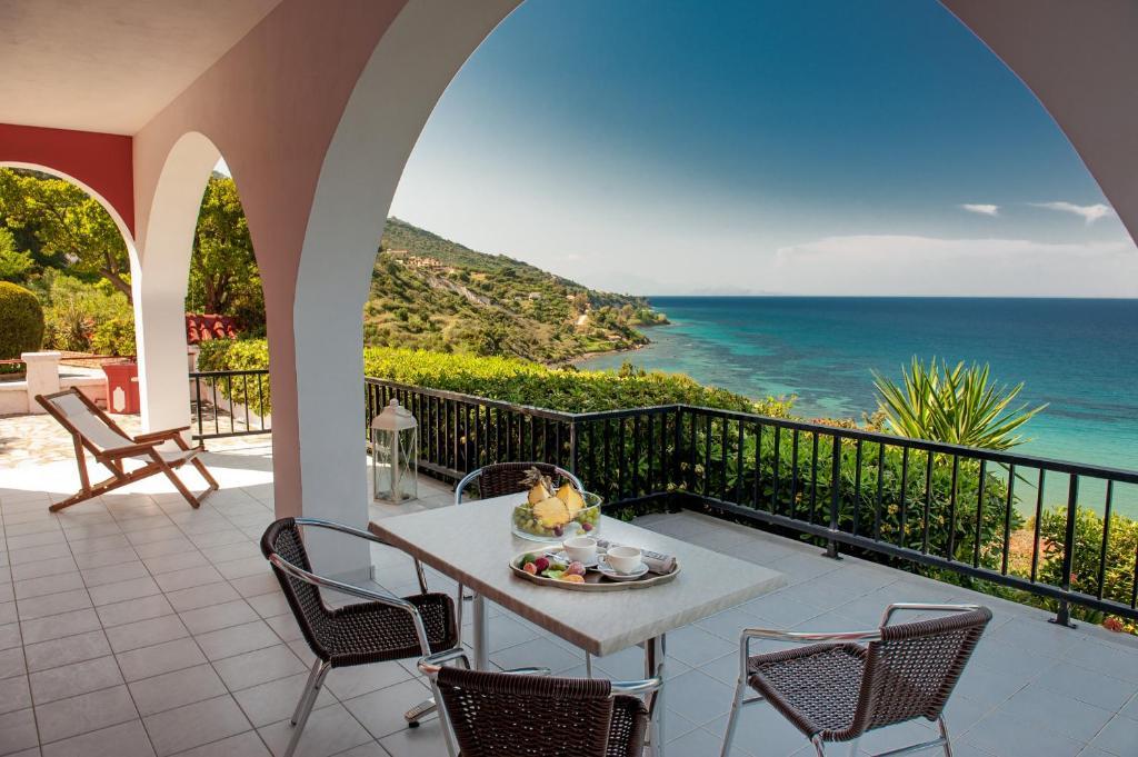 Ein Balkon oder eine Terrasse in der Unterkunft Villa Levante