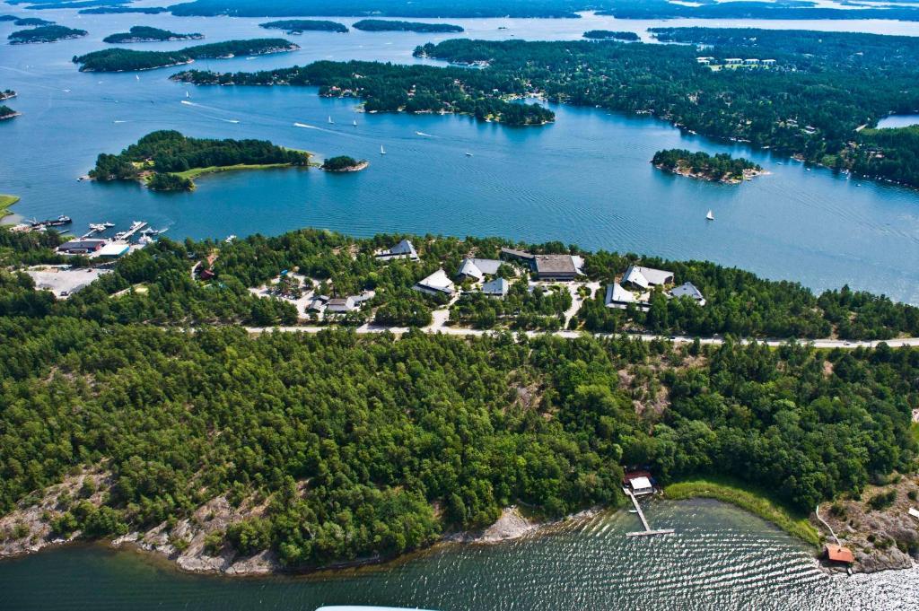 Ett flygfoto av Djurönäset Hotell & Konferens