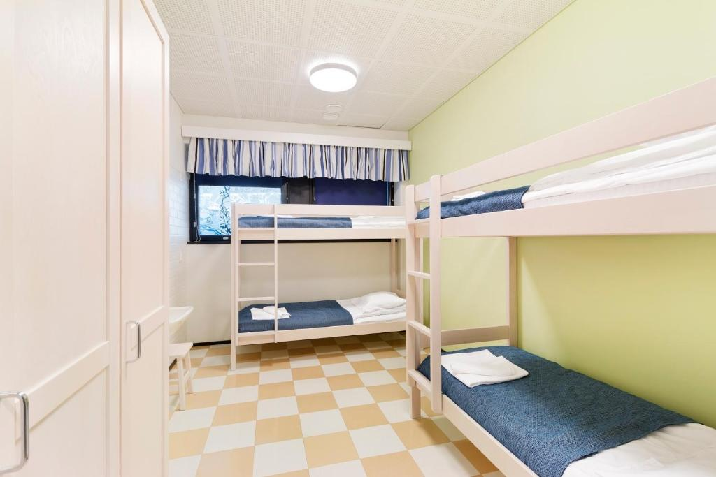 A bunk bed or bunk beds in a room at Imatra Spa Sport Camp