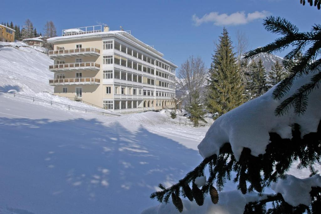 Davos Youth Hostel during the winter