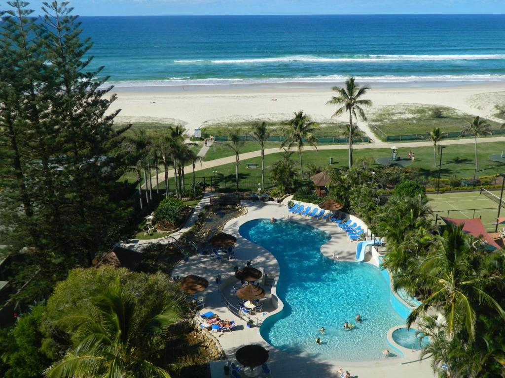 A view of the pool at Royal Palm Resort on the Beach or nearby
