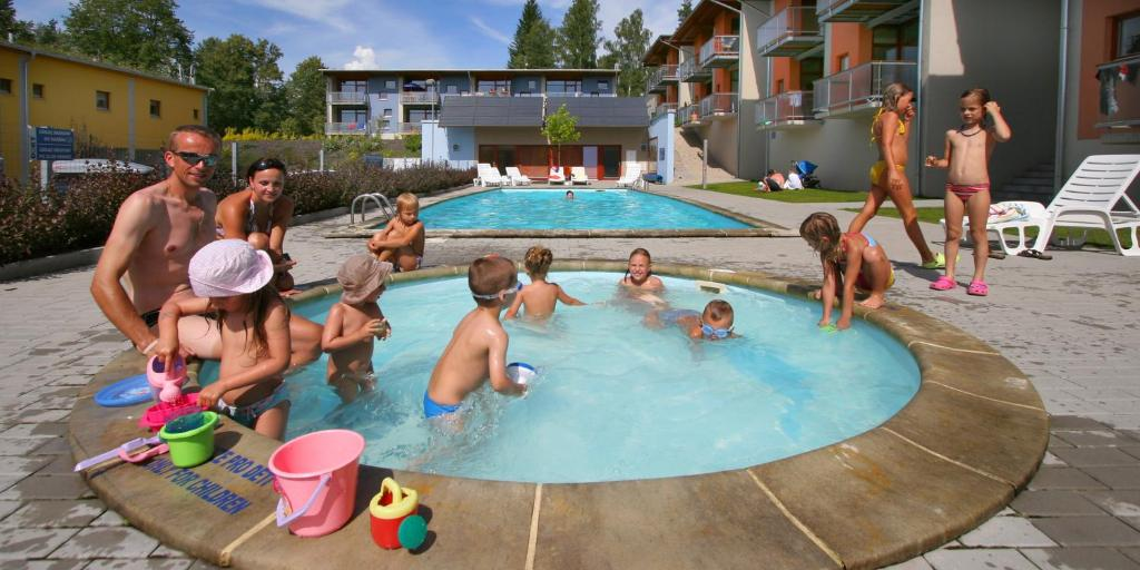 The swimming pool at or near Apartmány Doky Holiday