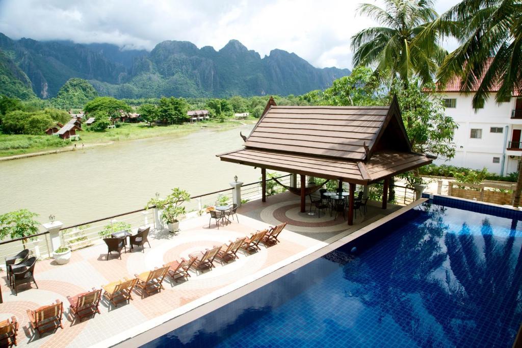 The swimming pool at or near Silver Naga Hotel