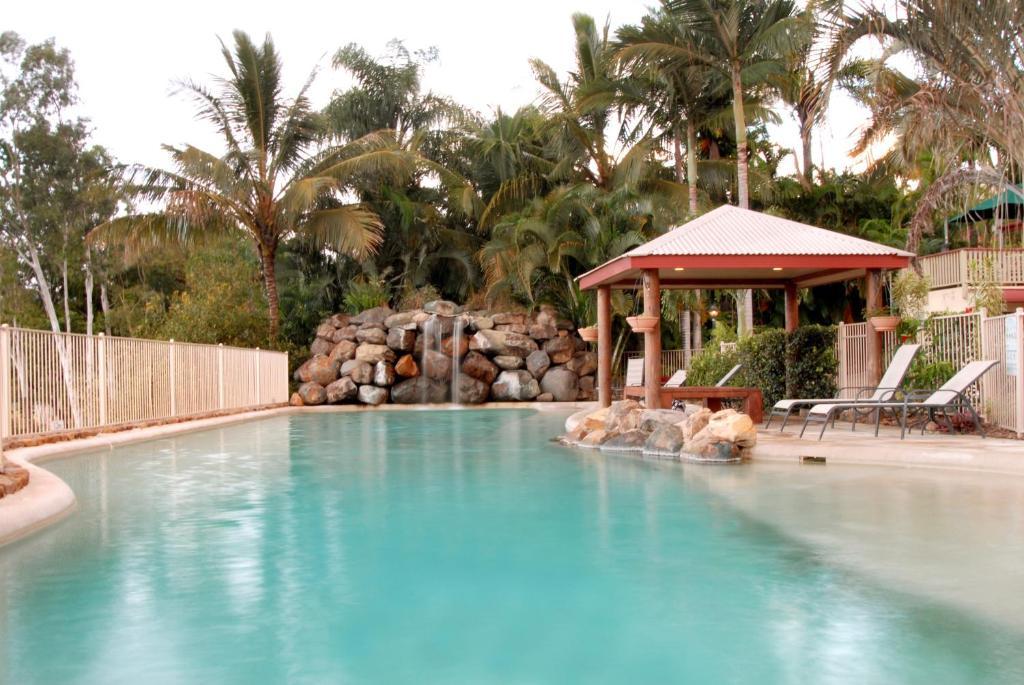 The swimming pool at or near at Boathaven Bay Holiday Apartments