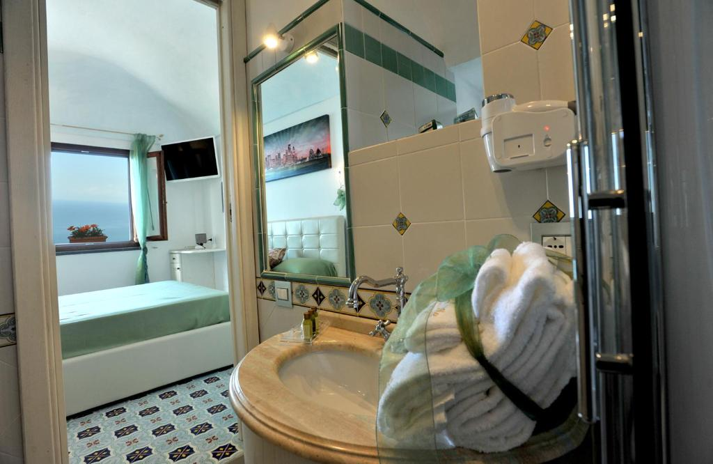 A bathroom at World Center