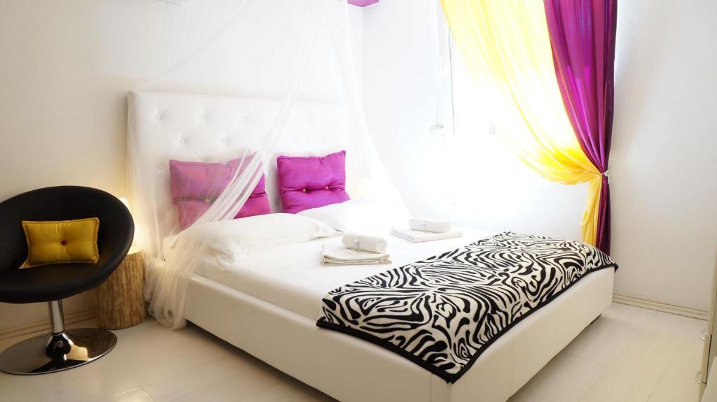 Postelja oz. postelje v sobi nastanitve A&N Zadar
