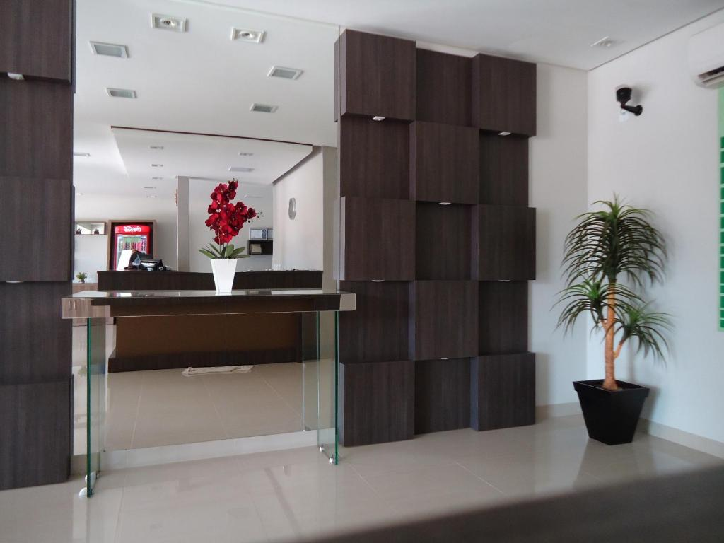 The lobby or reception area at Hotel Barril