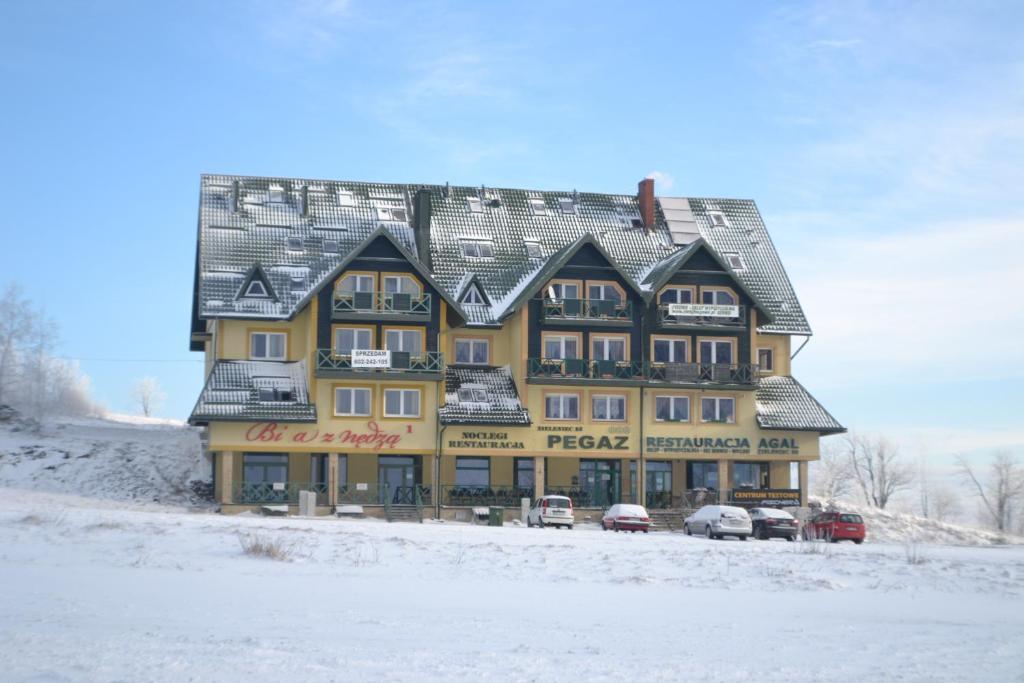 Ośrodek Pegaz during the winter