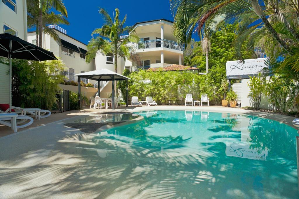 The swimming pool at or near Noosa Riviera Resort