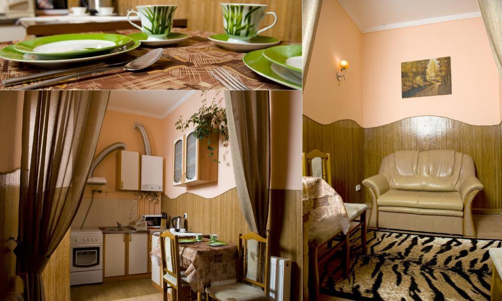 Ein Sitzbereich in der Unterkunft Lviv Centre Apartment