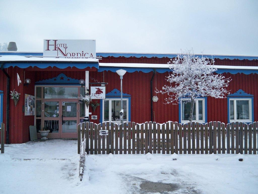 Hotel Nordica Strömsund during the winter
