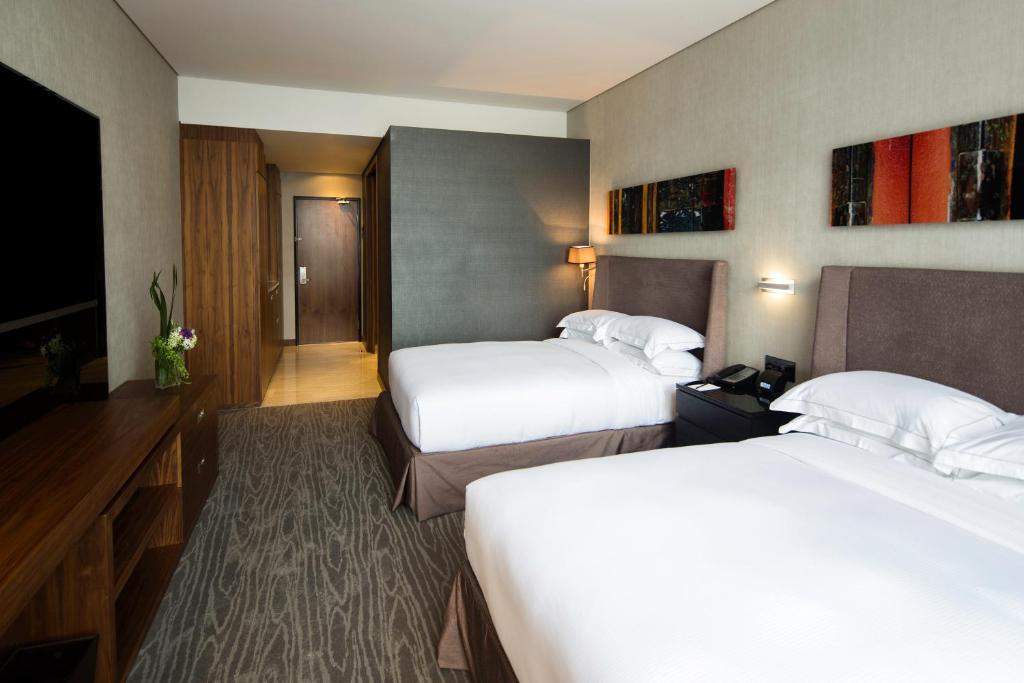 Cama o camas de una habitación en Hilton Mexico City Santa Fe