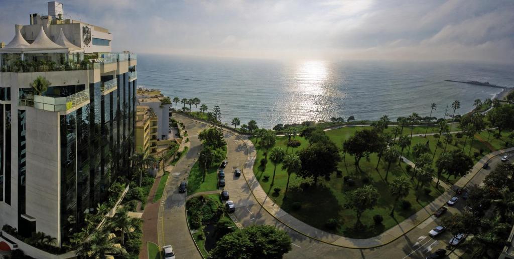 A bird's-eye view of Miraflores Park, A Belmond Hotel, Lima