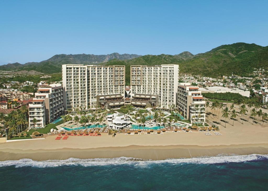 A bird's-eye view of Secrets Vallarta Bay Resort & SPA - Adults Only