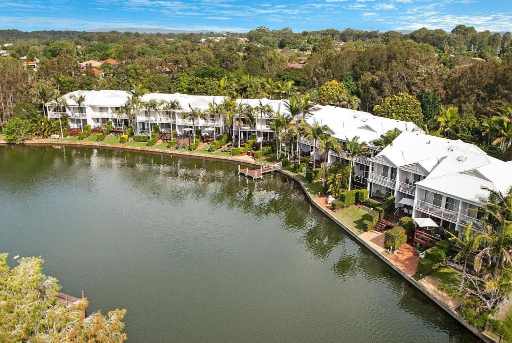 A bird's-eye view of Portside Noosa Waters