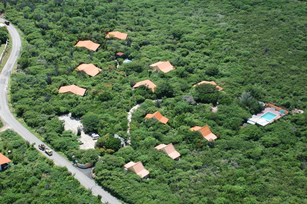 Uma vista aérea de Flamingo Park Curacao