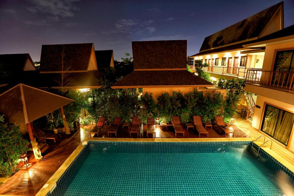 The swimming pool at or near PloyKhumThong Boutique Resort