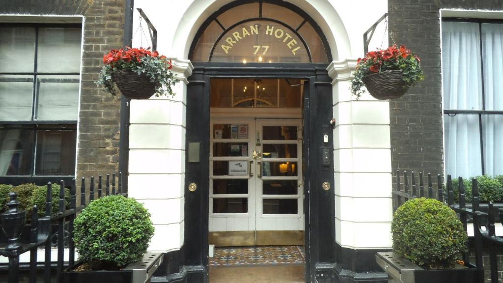The facade or entrance of Arran House Hotel