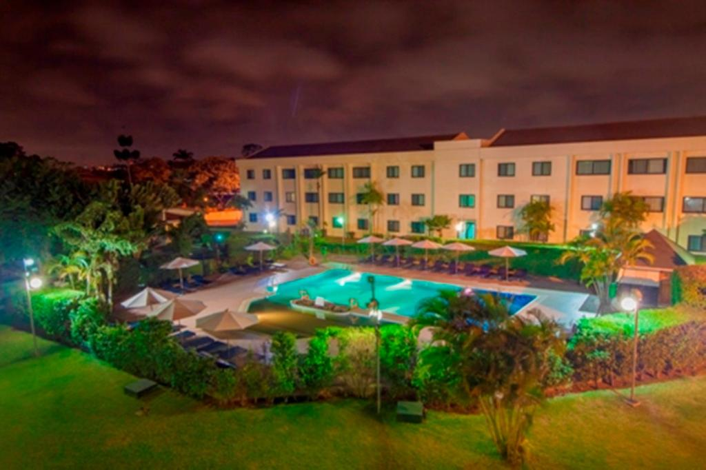 A view of the pool at Fiesta Royale Hotel or nearby