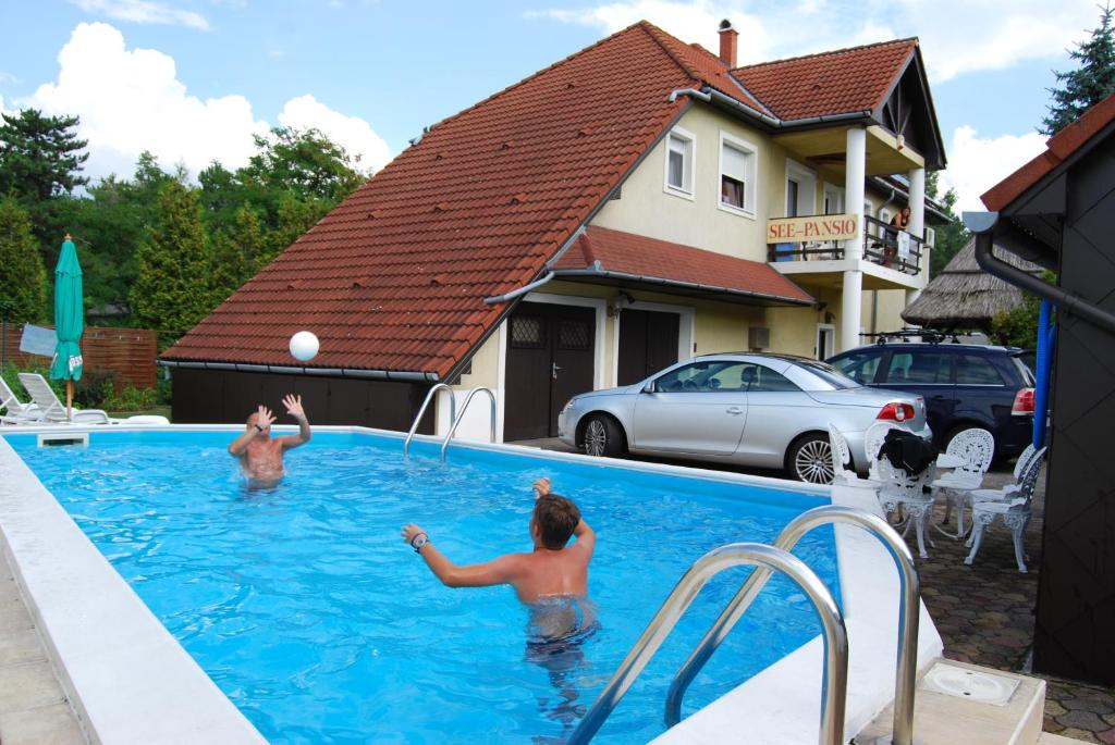 The swimming pool at or near See Panzió - Siófok