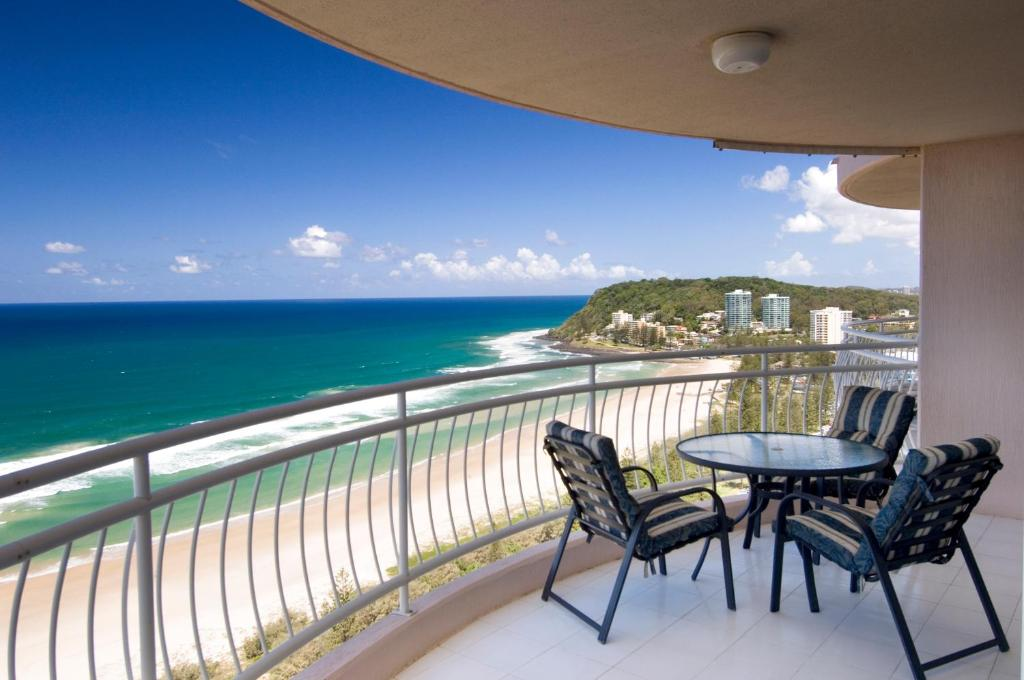 A balcony or terrace at 2nd Avenue Beachside Apartments