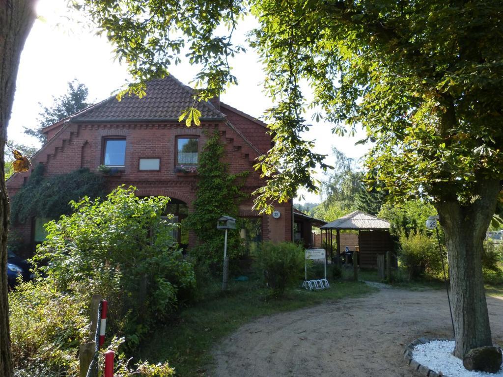 Ein Garten an der Unterkunft Haus Elbtalaue