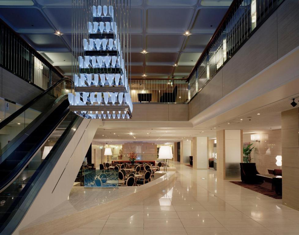 Area lobi atau resepsionis di Toyama Daiichi Hotel