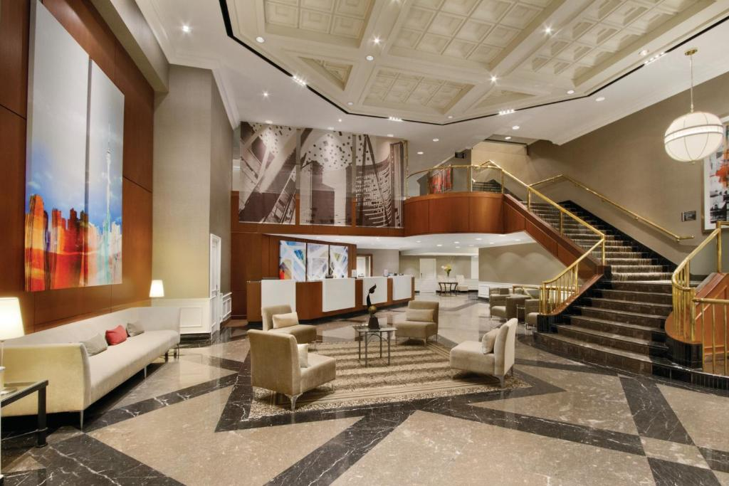 The lobby or reception area at DoubleTree by Hilton Toronto Downtown