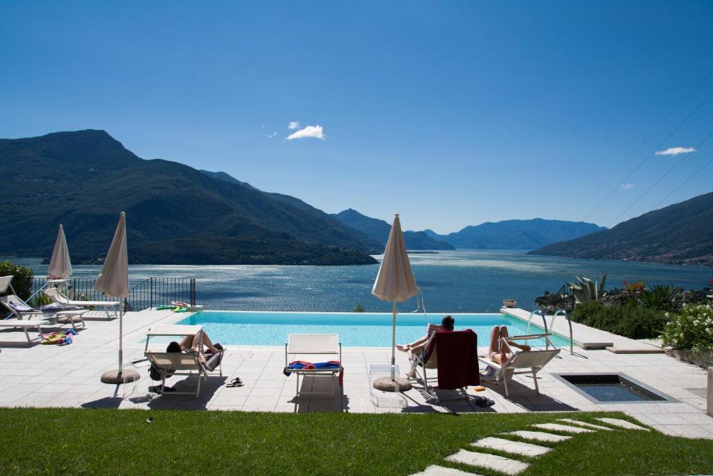 Der Swimmingpool an oder in der Nähe von Residence CaFelicita