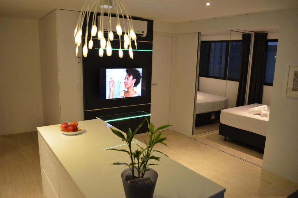 A television and/or entertainment center at Goldenland Home Service