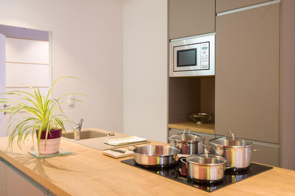 A kitchen or kitchenette at Apart Simon Seefeld