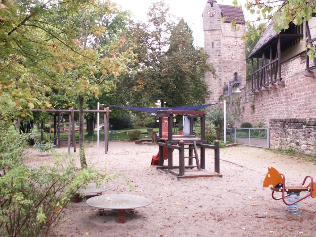 Ein Kinderspielbereich in der Unterkunft Ferienhaus Eberbach