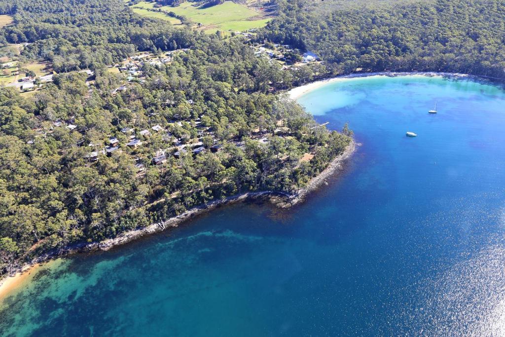 A bird's-eye view of Stewarts Bay Lodge