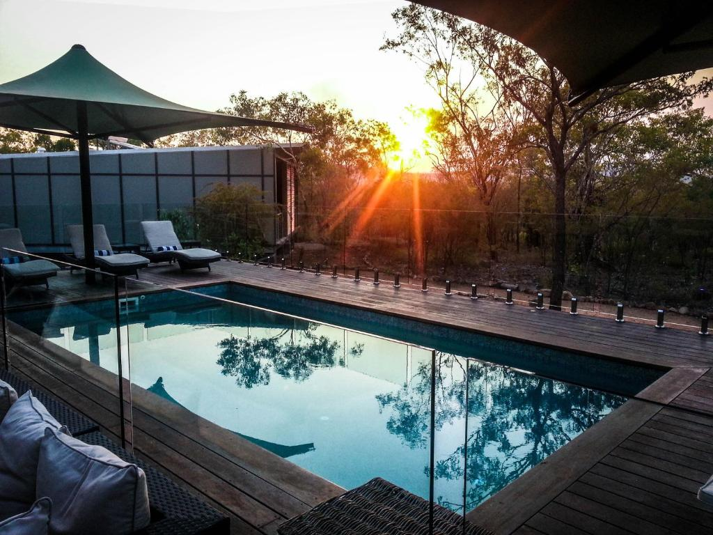 The swimming pool at or near Cicada Lodge