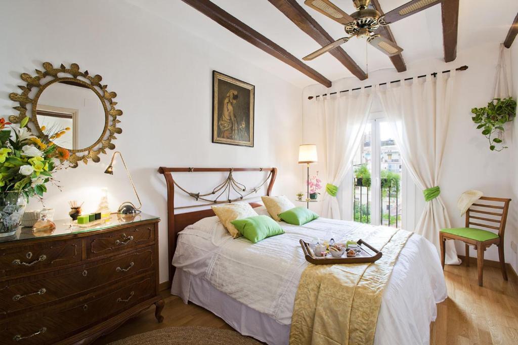 Cama o camas de una habitación en Apartment Eixample Comfort