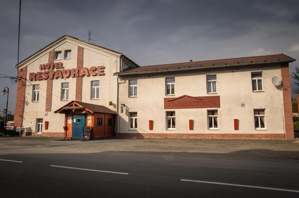 The facade or entrance of Třebovický mlýn