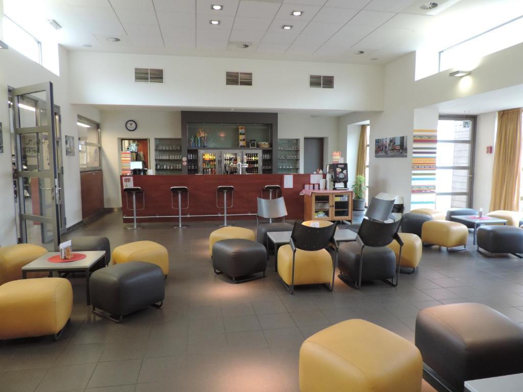 De lounge of bar bij Hostel Blauwput Leuven