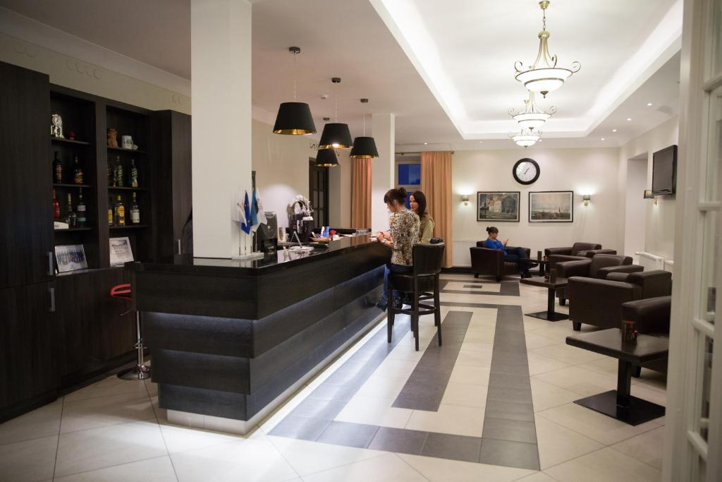 The lobby or reception area at Hotell Wesenbergh