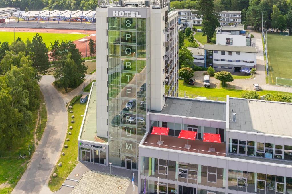 A bird's-eye view of Hotel Sportforum