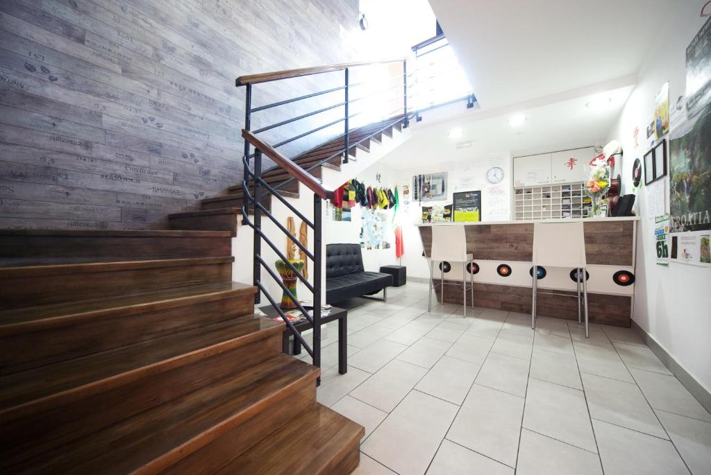 The lobby or reception area at Funk Lounge Hostel