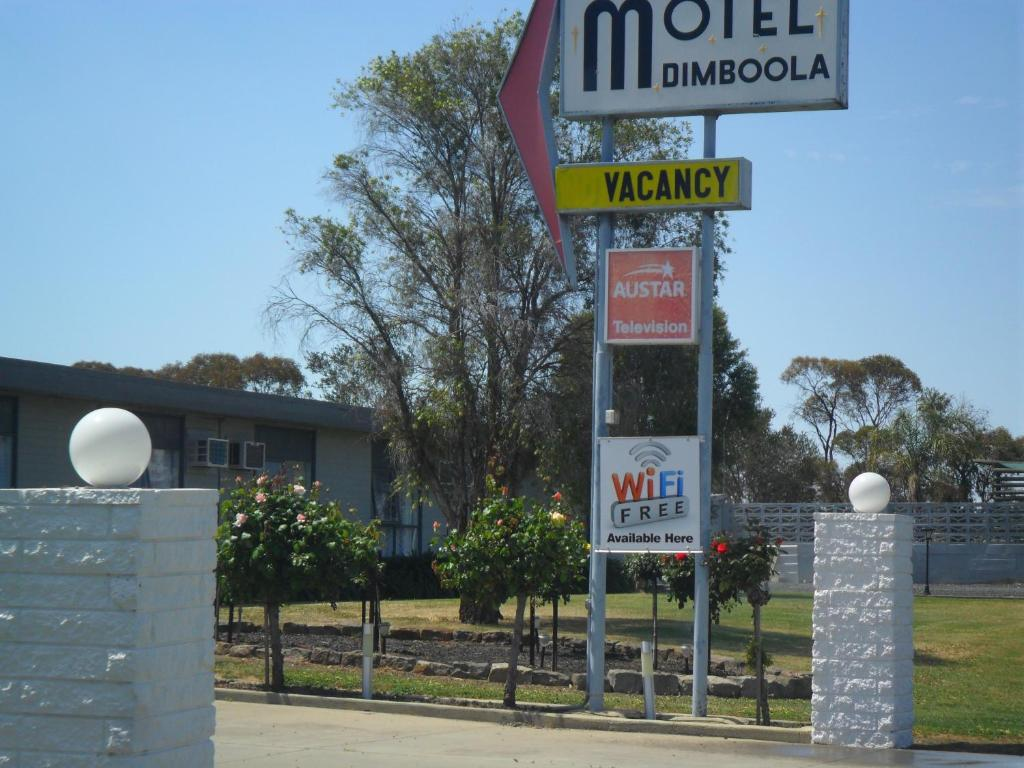 A certificate, award, sign, or other document on display at Motel Dimboola
