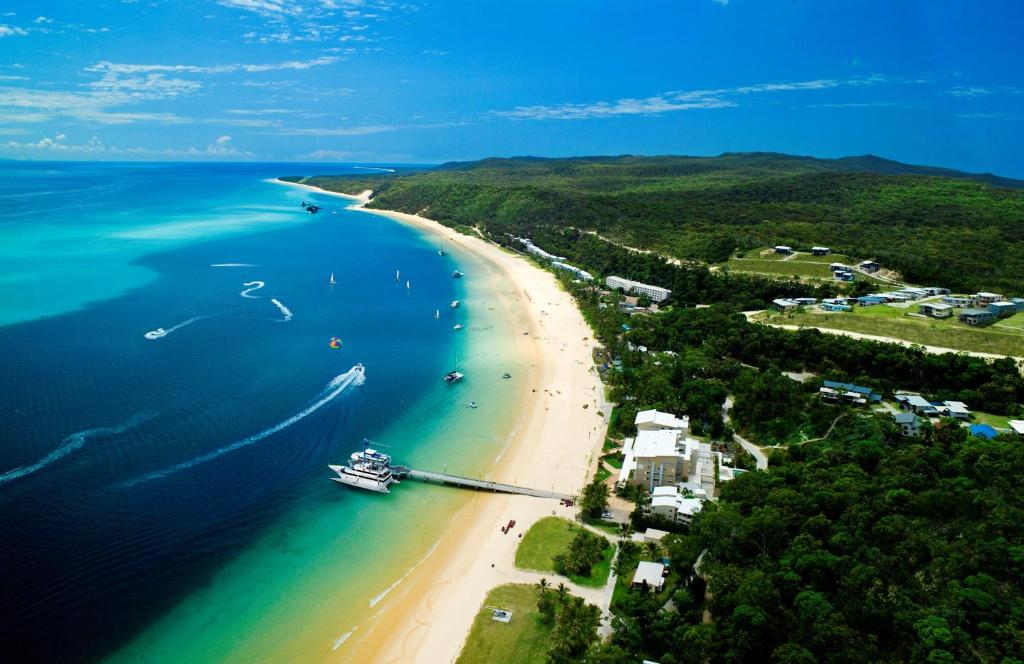 A bird's-eye view of Tangalooma Island Resort
