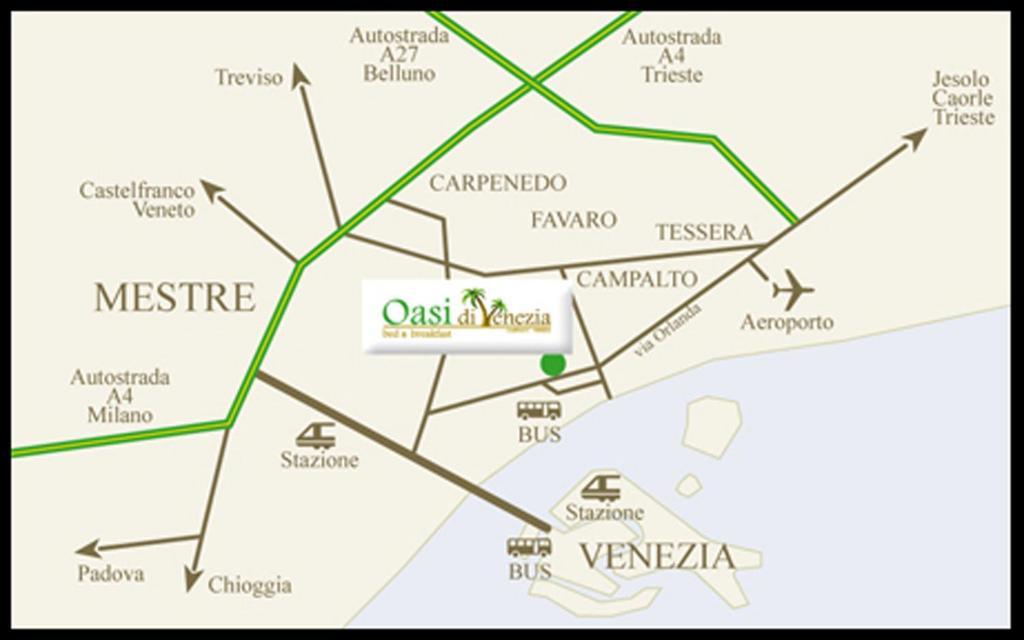Vista aerea di B&B Oasi di Venezia