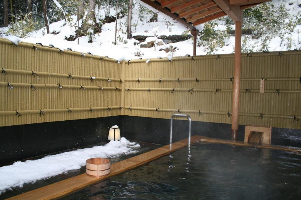 The swimming pool at or near Yumoto Onsen OharaSansou