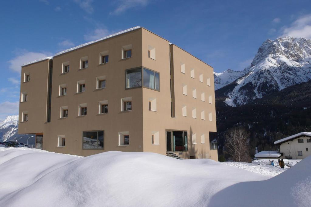 Scuol Youth Hostel during the winter
