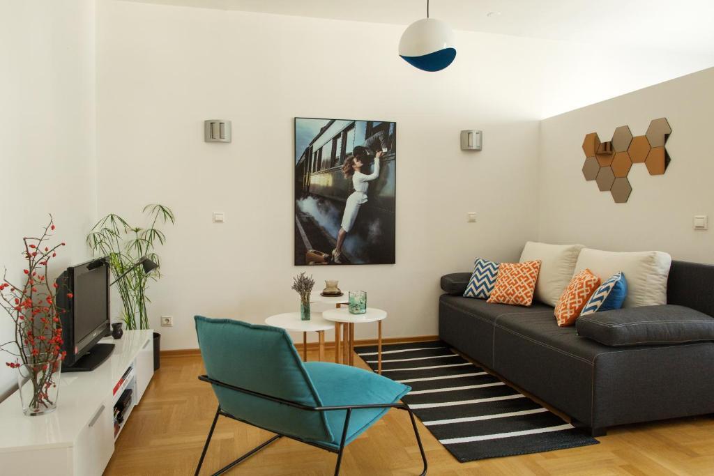Гостиная зона в Apartment Fedja