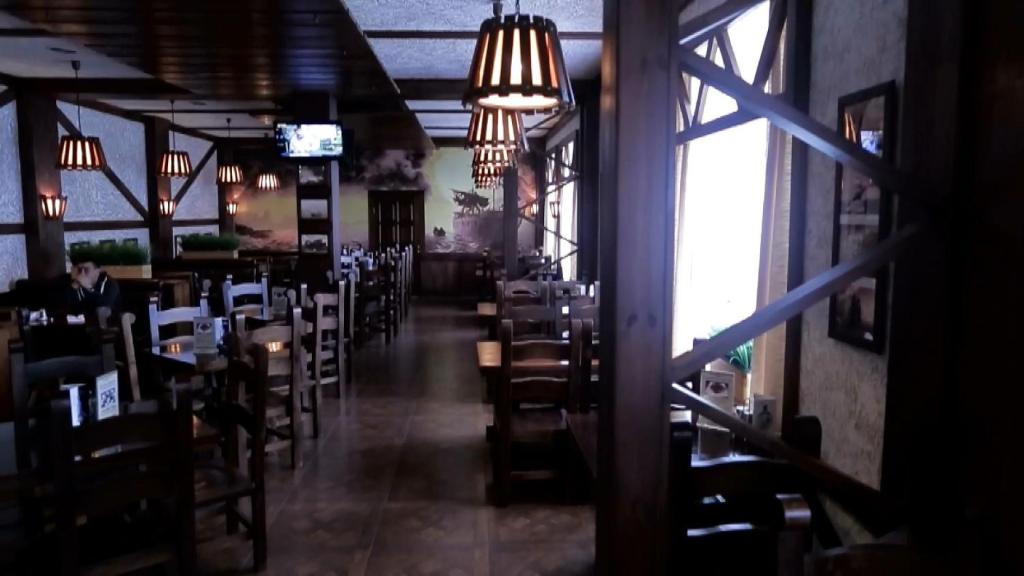 A restaurant or other place to eat at Dostyk Hotel