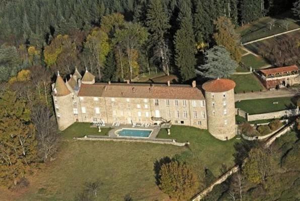 A bird's-eye view of Château De Vollore