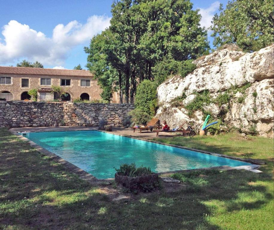 The swimming pool at or near Mas des Clauzals