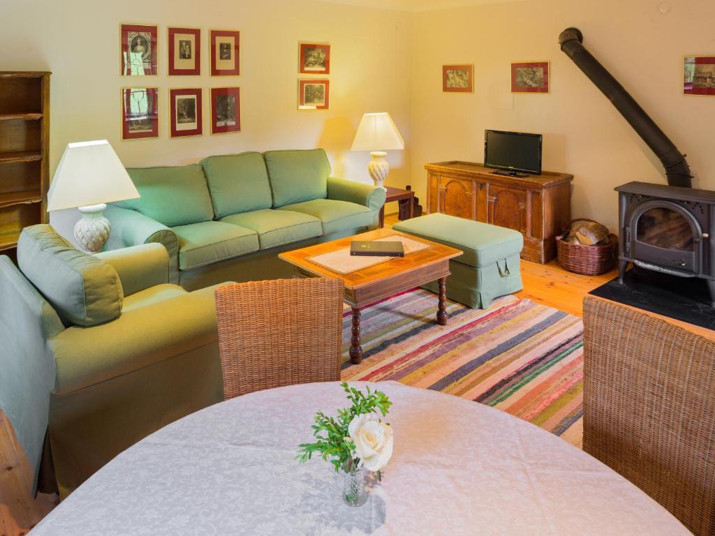 Ein Sitzbereich in der Unterkunft Laffelberghaus
